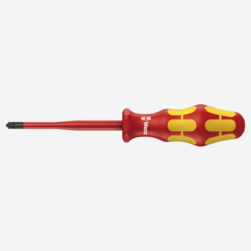 Wera 006465 PZ/S #1 x 80mm VDE Insulated PlusMinus Slim Screwdriver - KC Tool
