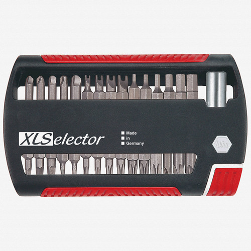 Wiha 79490 31 Piece Security XSelector Bit Set (Spanner/Tri-Wing/Torq-Set/Security Torx/Security Hex/Square/PoziDriv/Phillips/Slotted) - KC Tool