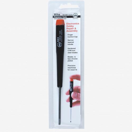 "Wiha 96313 1.3mm (0.050"") x 40mm Precision Hex Screwdriver (Retail Pack) - KC Tool"