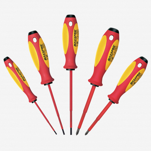 Witte 653741 5 Piece Maxxpro Insulated Slotted and Phillips Screwdriver Set - KC Tool