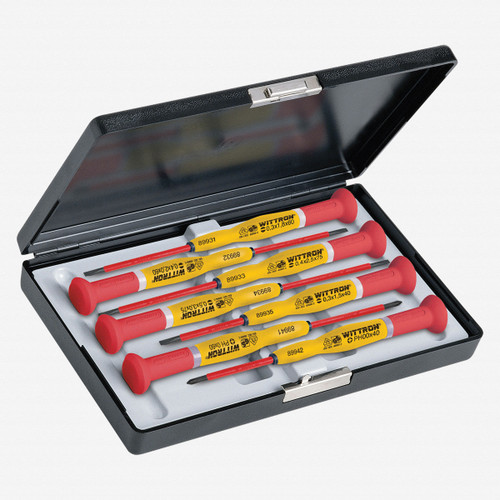 Witte 89367 7 Piece Wittron Insulated Slotted and Phillips Set w/ Case - KC Tool