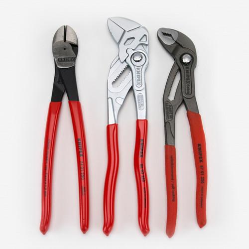 """Knipex 9K-00-80-117-US 3 Piece 10"""" Pliers Set - KC Tool"""