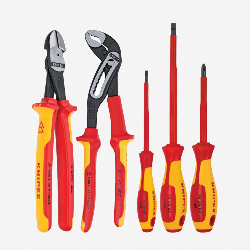 Knipex 9K-98-98-20-US 5 Pc Automotive Pliers / Screwdriver Tool Set - 1,000 V Insulated