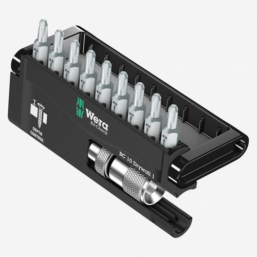 Wera 136011 Drywall Construction/9 Bit-Check Set - KC Tool