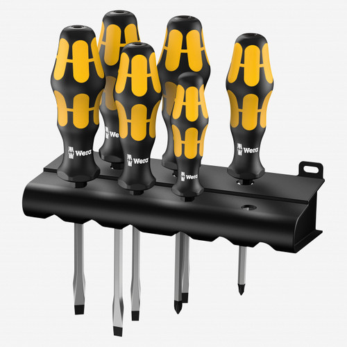 Wera 018283 Kraftform Plus Slotted/Phillips Screwdriver Set + Rack - KC Tool