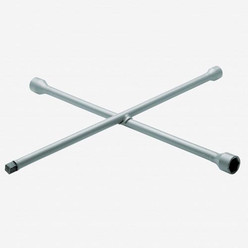 "Gedore 28 LV 4-way wheel wrench 24x27x32x3/4"", 750x750 mm - KC Tool"