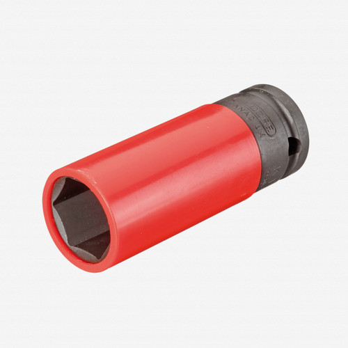 """Gedore K 19 LS 21 Impact socket 1/2"""" with protective sleeve, 21 mm - KC Tool"""