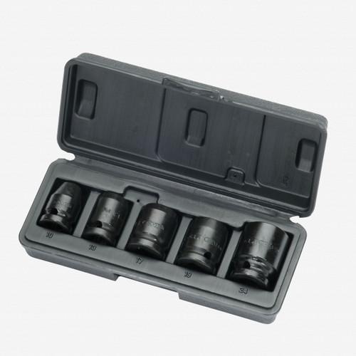 "Gedore K 19-028 Car impact socket set 1/2"" 5 pcs hex 10-24 mm - KC Tool"