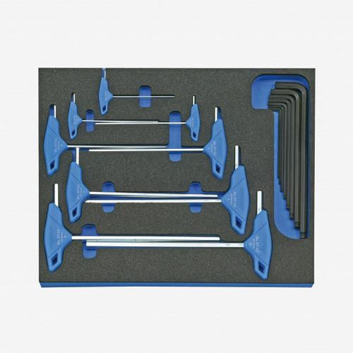Gedore 2005 CT2-DT 42 Hexagon Allen key set in 2/4 CT tool module, 17 pieces - KC Tool