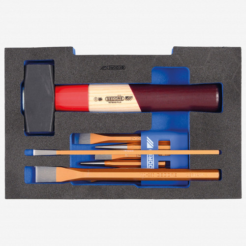 Gedore 1100 CT1-350 Chisel set in 1/2 L-BOXX 136 Module - KC Tool