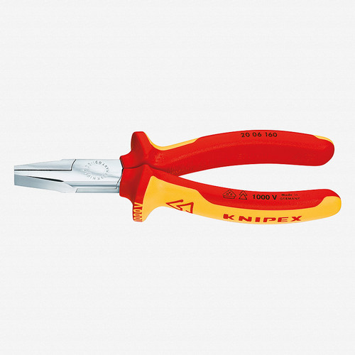 """Knipex 20-06-160 6.3"""" Flat Nose Pliers - Insulated - KC Tool"""