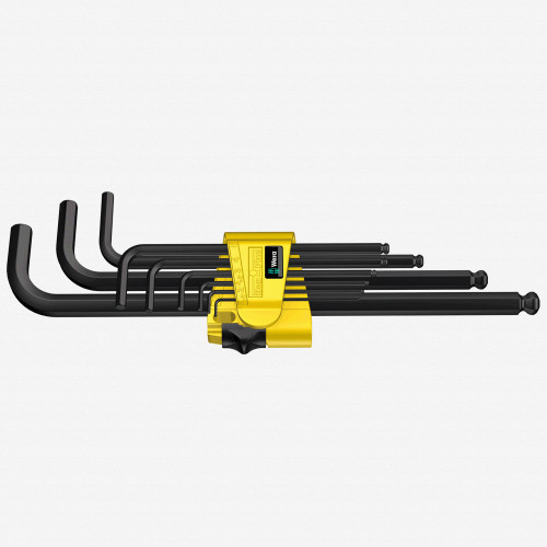 Wera 022171 9 Piece Hex + Ball End Hex SAE L-key Clip Set - KC Tool