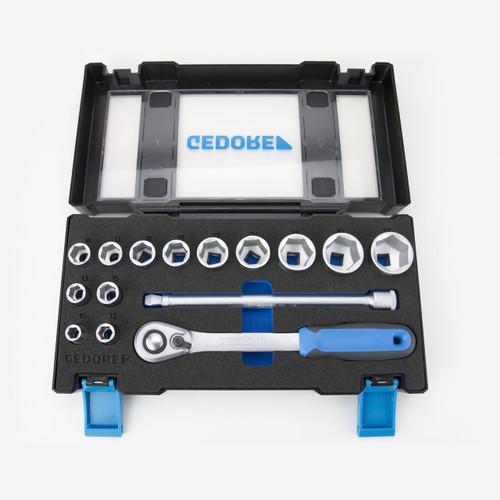 """Gedore 19 DMU-20 1/2"""" 15 Piece Metric Socket Set - KC Tool"""