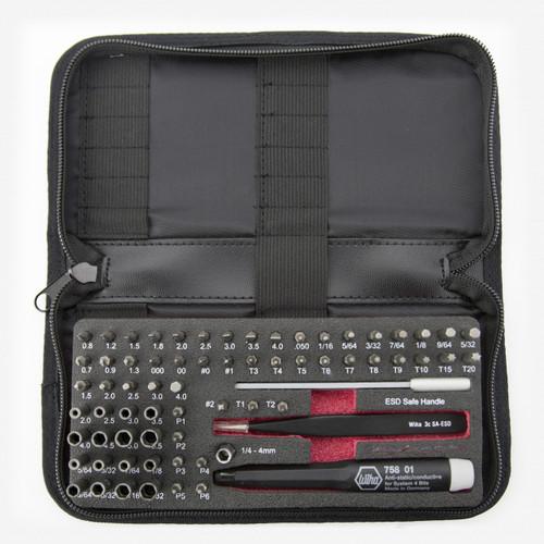 Wiha 75977 ESD Safe Micro Bit Set 68 Pieces with ESD Safe Tweezers - KC Tool