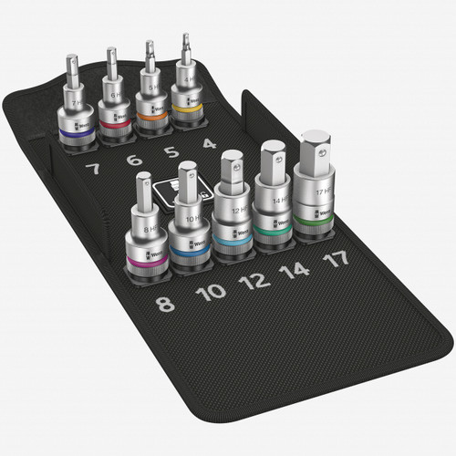 "Wera 004201 Zyklop Hex Metric Bit Socket Set - 1/2"" Drive with Holding Function - KC Tool"