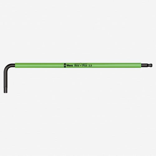 Wera 022604 2.5 x 112mm Hex + Ball End Hex L-key (Bright Green) - KC Tool