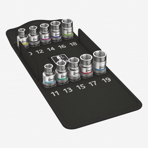 """Wera 004203 Zyklop Socket Set with Holding Function 1/2"""" Drive Metric - KC Tool"""