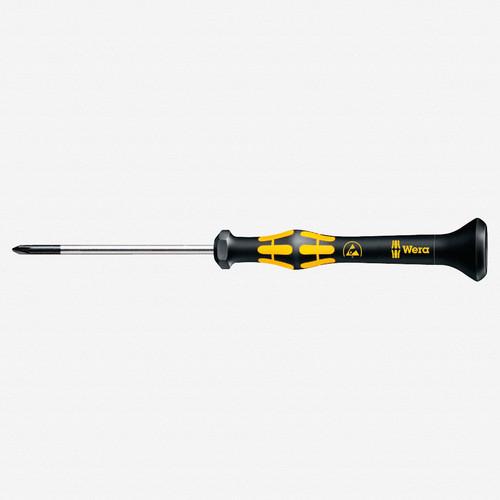 Wera 030110 PH #00 x 60mm ESD Safe Phillips Precision Screwdriver - KC Tool