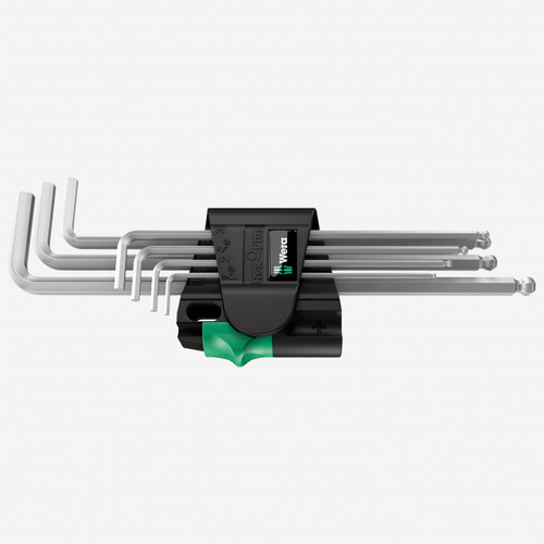 Wera 022101 Magnetic Chrome Ball End Hex Metric L-Key Set - KC Tool