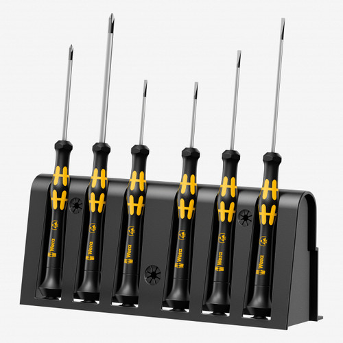 Wera 030170 ESD Safe Slotted/Phillips Precision Screwdriver Set + Rack - KC Tool
