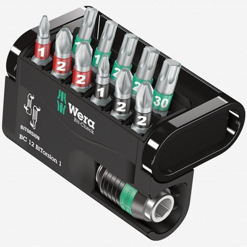 Wera 057420 Bit-Check 12 BiTorsion 1 - PH, PZ, and TX Insert Bit Set - KC Tool