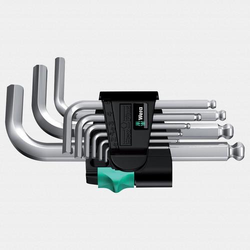 Wera 133163 Metric Chrome Ball-End L-key Set - KC Tool