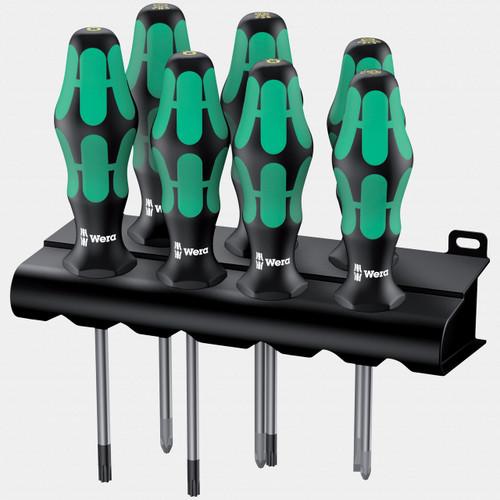 Wera 320540 Kraftform Plus Screwdriver Set with Rack - KC Tool