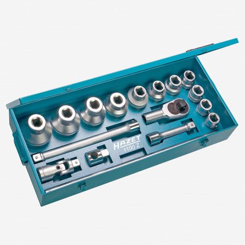 "Hazet 1100Z 17 Piece Socket Set 1"" Drive 32-80mm - KC Tool"