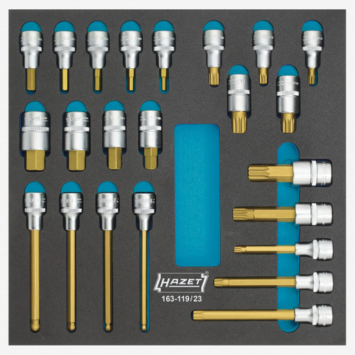 Hazet 163-119/23 Screwdriver socket set  - KC Tool