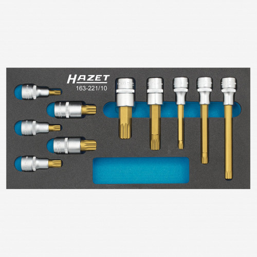 Hazet 163-221/10 Screwdriver socket set  - KC Tool
