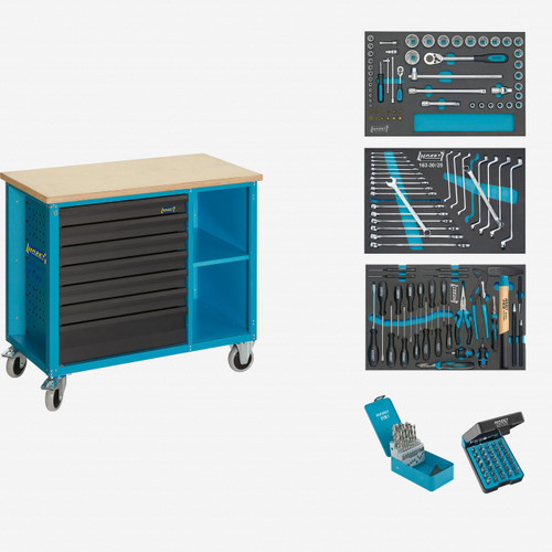 Hazet 177W-7/169 Mobile work bench with assortment  - KC Tool