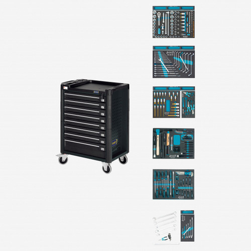 Hazet 179-8-RAL7021/214 Tool trolley Assistent with VW and Audi assortment  - KC Tool