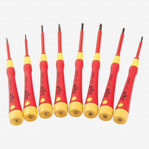 Wiha 32088 Insulated Precision Slotted and Phillips Screwdriver Set, 8 Pieces - KC Tool