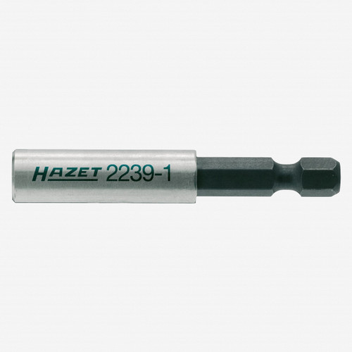 """Hazet 2239-1 1/4"""" hex male to 1/4"""" hex female Adapter - 60mm, Magnetic - KC Tool"""