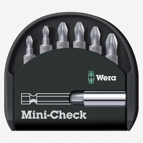 Wera 056296 Mini-Check Pozidriv Insert Bit Set - KC Tool