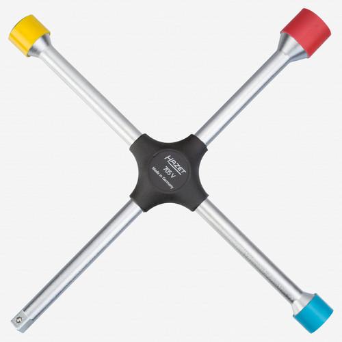 "Hazet 705V Four-way rim wrench 17 x 19 x 21mm x 1/2"" square - KC Tool"