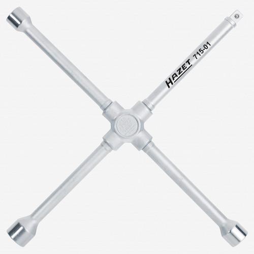 "Hazet 715-01 Four-way rim wrench 17 x 19 x 22mm x 1/2"" square - KC Tool"