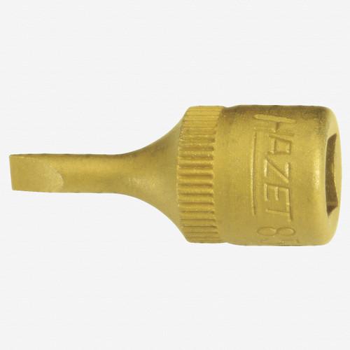 "Hazet 8503-0.6x3.5 3.5mm Slotted TiN 1/4"" Socket - KC Tool"