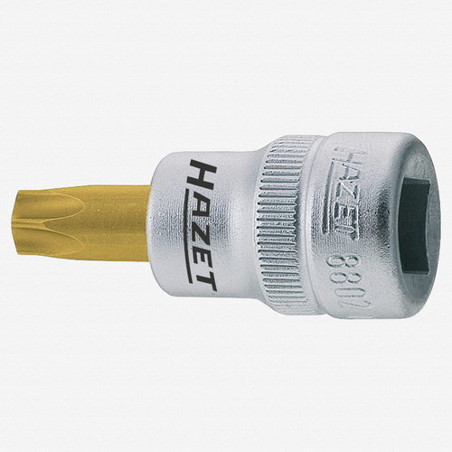"Hazet 8802-T25 T25 Torx TiN Socket 3/8"" - KC Tool"