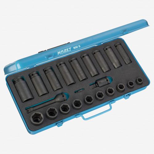 "Hazet 900S 23 Pc 1/2"" Metirc Impact Socket Set  - KC Tool"