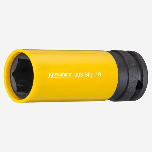 "Hazet 903SLG-19 Impact socket (6-point) 19mm x 1/2"" Lug Nut Impact Socket with Plastic Sleeve  - KC Tool"