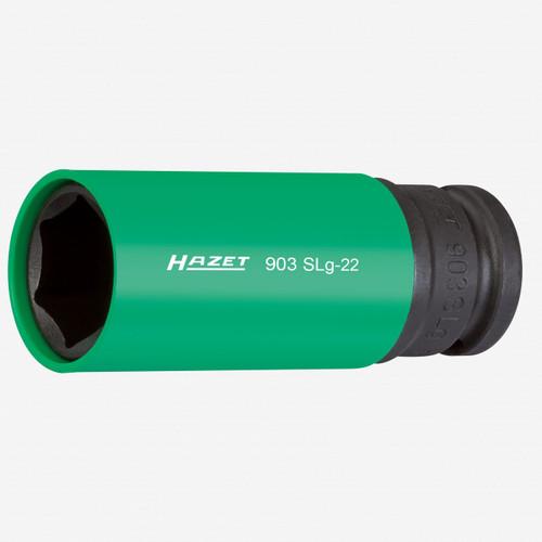 "Hazet 903SLG-22 Impact socket (6-point) 22mm x 1/2"" Lug Nut Impact Socket with Plastic Sleeve  - KC Tool"