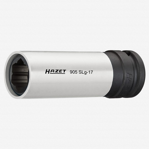 "Hazet 905SLG-17 17mm Impact socket (special profile) for hybrid wheel bolts Mercedes-Benz 1/2"" - KC Tool"