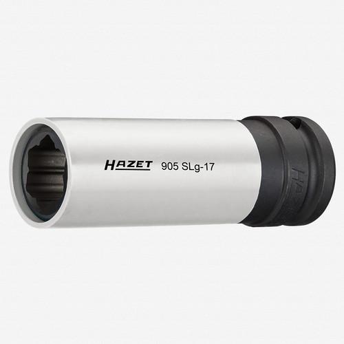 "Hazet 905SLG-17 17mm Impact socket (special profile) for hybrid wheel bolts Mercedes-Benz 1/2"" - KC Tool"