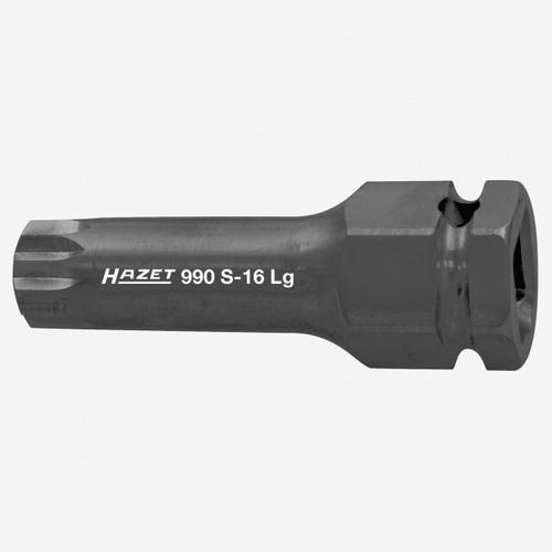"Hazet 990S-16LG M16 XZN Impact Socket 1/2"" - Long - KC Tool"