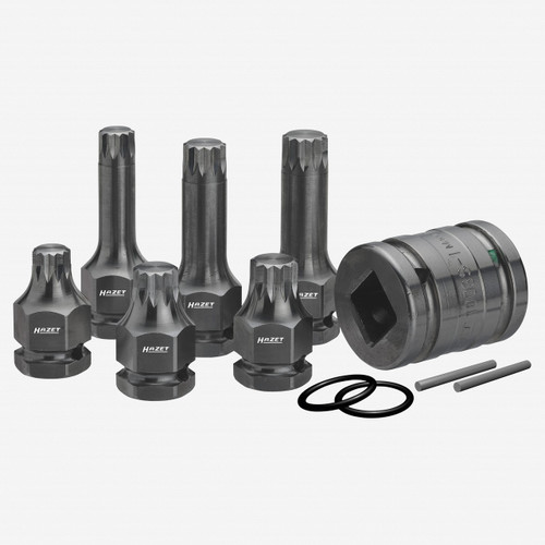 "Hazet 990S/11 11 Pc XZN Impact Socket Set 1/2"" - KC Tool"