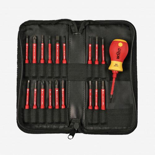 Wiha 28396 20 Piece Stubby Handle Insulated SlimLine Blade Set - KC Tool