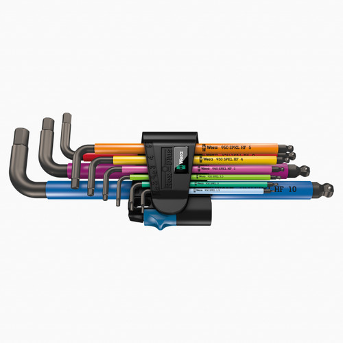 Wera 022210 Multicolor Metric L-key Set with Holding Function - KC Tool
