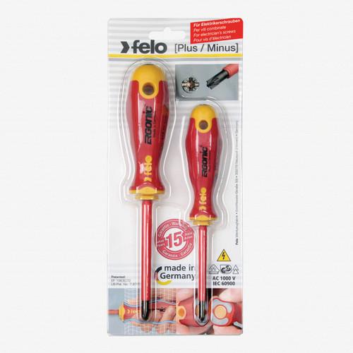 Felo 63697 E-slim Insulated 2 Piece PlusMinus Z PZ/SL Screwdriver Set - KC Tool