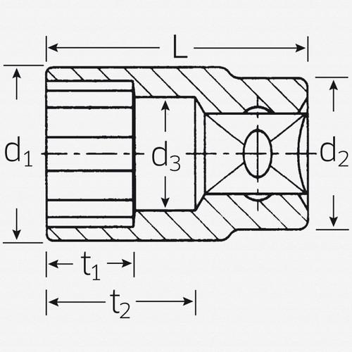 "Stahlwille 45 3/8"" 12-pt Socket, 12 mm - KC Tool"